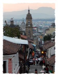 Straßen in La Candelaria in Bogotá