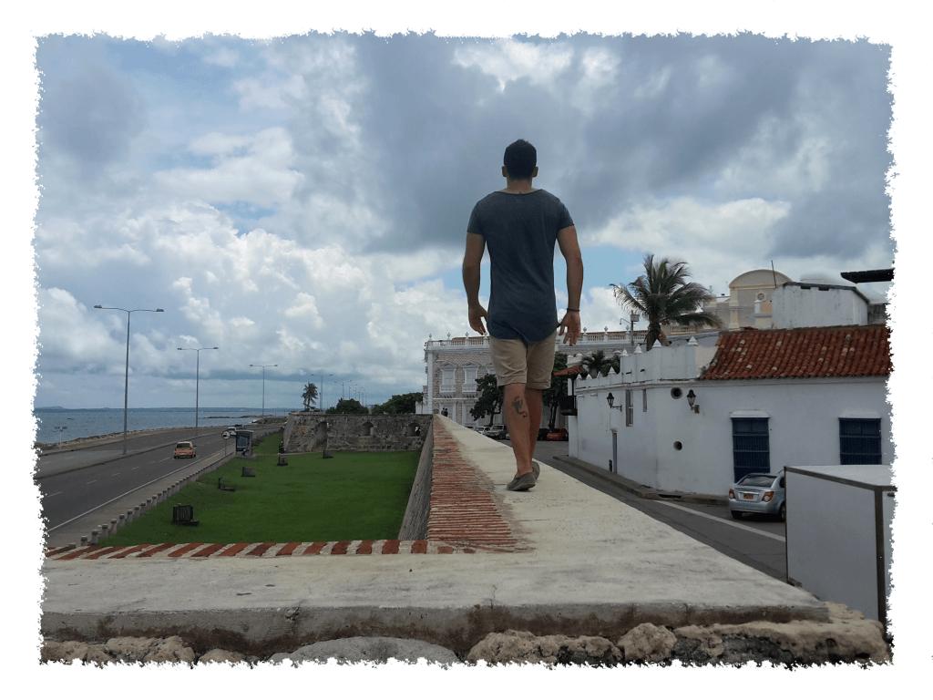 Stadtmauer in Cartagena