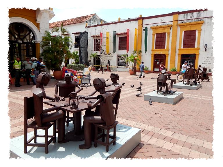 Künstlerische Altstadt in Cartagena