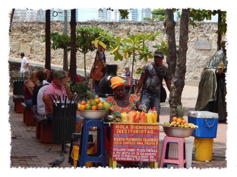 Obstverkäuferin in Cartagena