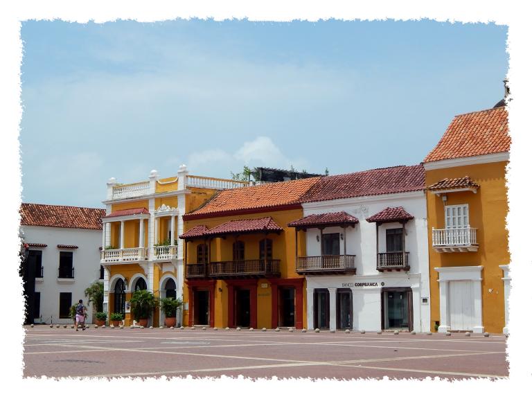 Bunte Altstadt in Cartagena