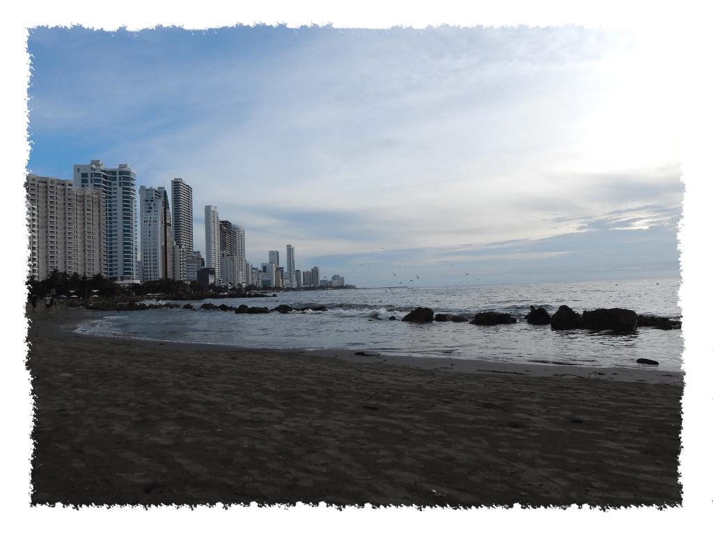 Strand von Bocagrande in Cartagena