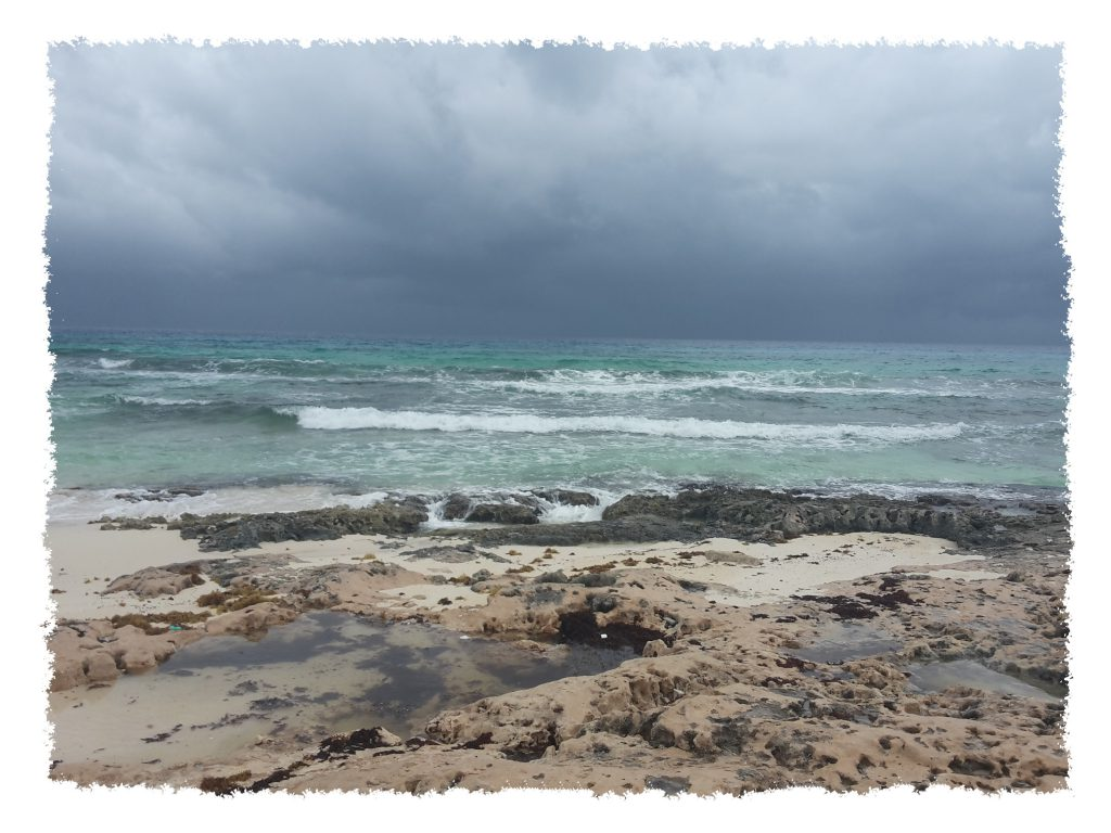 Wellen in Cozumel, Mexiko