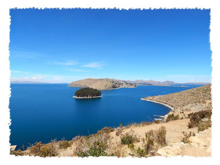 Wunderschöner Ausblick auf den Titicacasee
