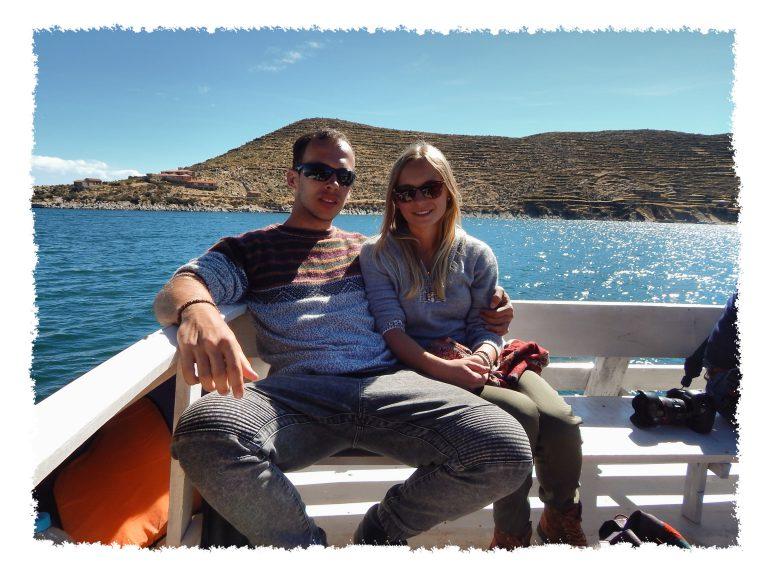 Auf dem Boot von Copacabana Richtung Inseln