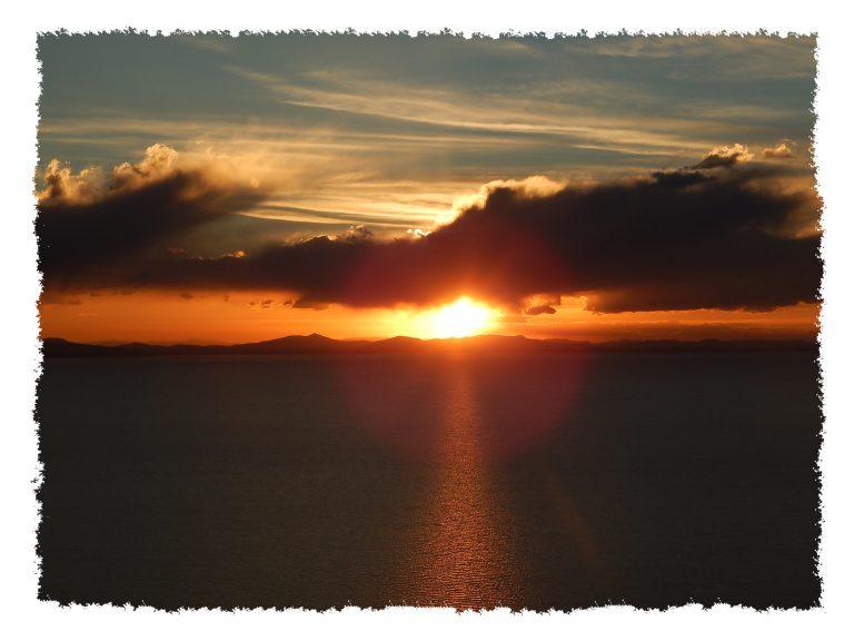 Sonnenuntergang in Copacabana