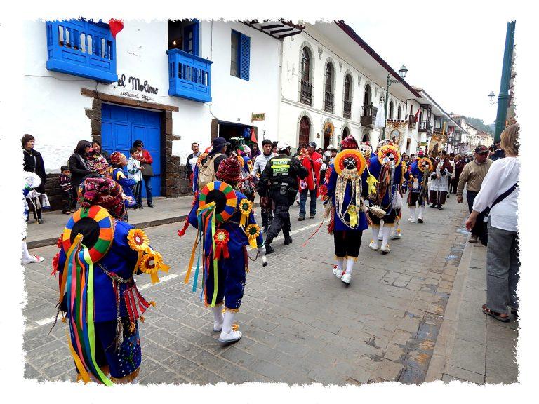 Fest in den Straßen von Cusco