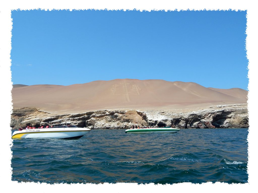 Paracas Symbol in Sand Islas Ballestas