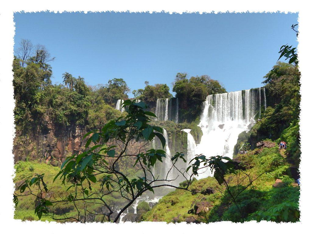 Ausblick auf die Wasserfälle von Iguazú