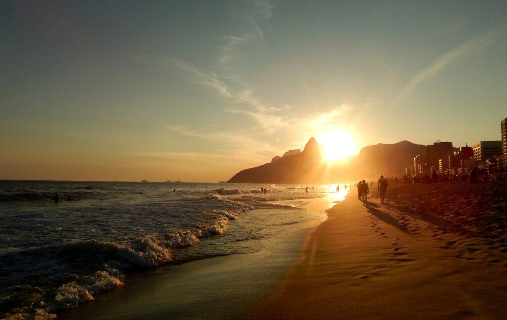 Sonnenuntergang in Ipanema, Rio de Janeriro
