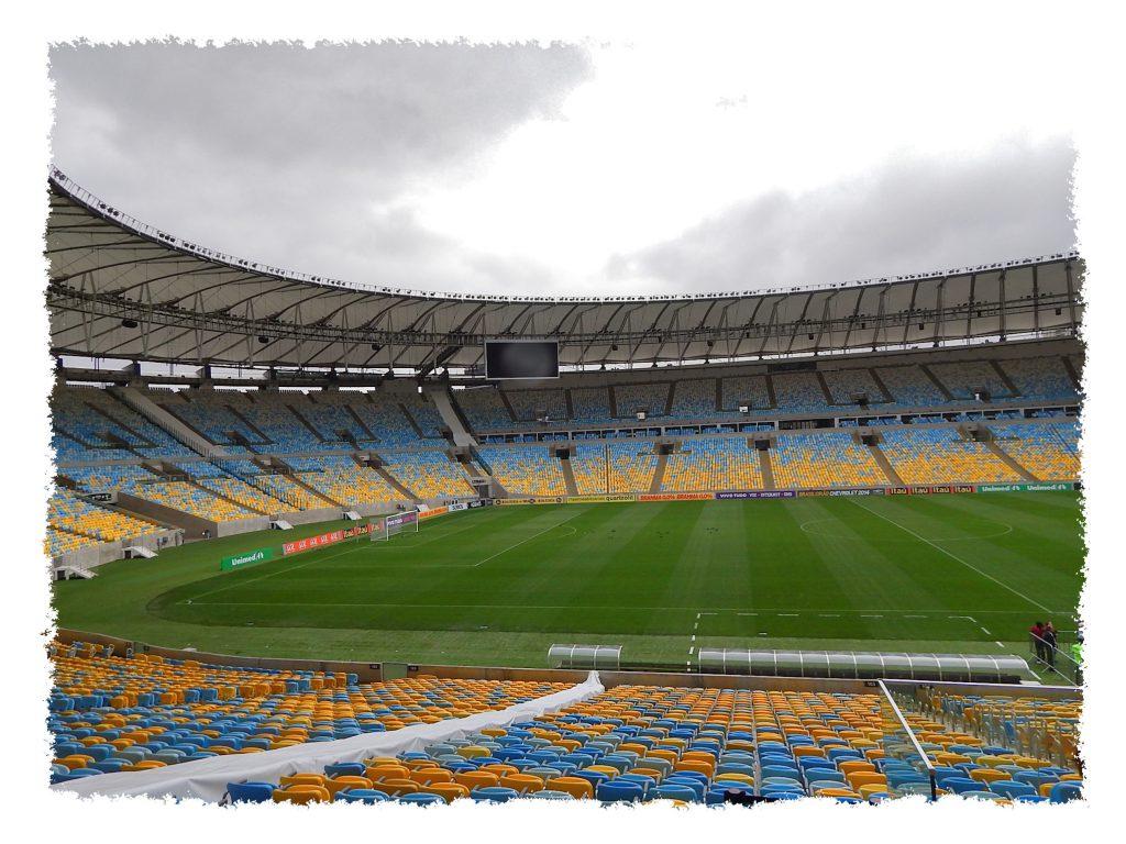 Leeres Maracana Stadion in Rio de Janeiro