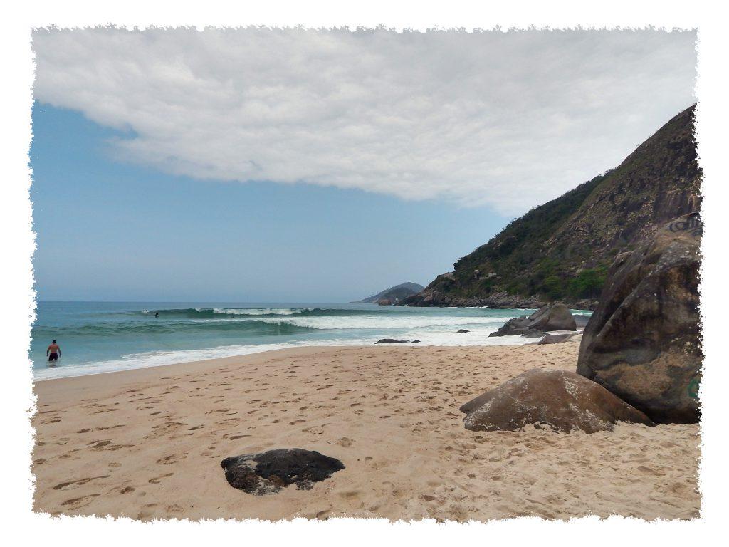 Blick von Prainha auf den Atlanktik nahe Rio de Janeiro