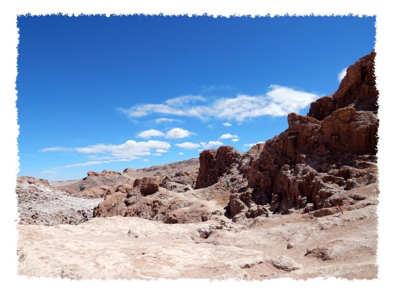 Landschaft im Valle de la Luna