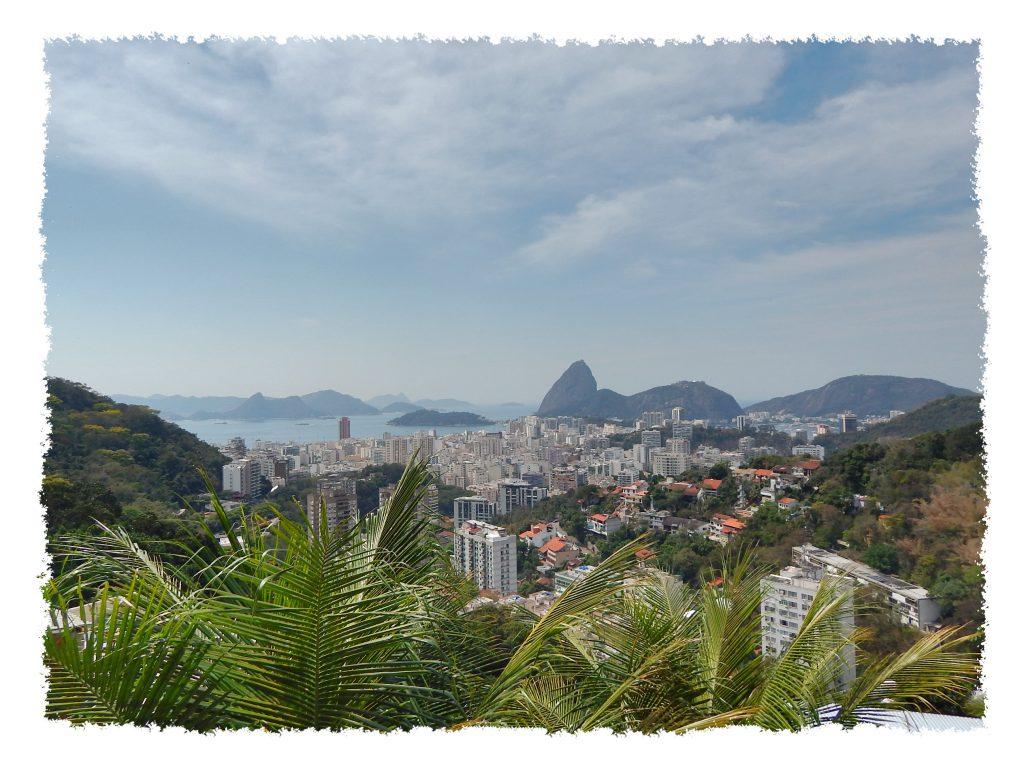 Ausblick aus Favela in Rio de Janeiro