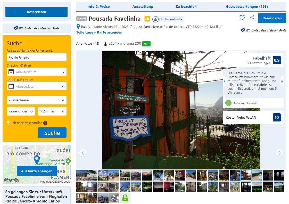 Favela in Rio de Janeiro - Pousada Favelinha auf Booking.com