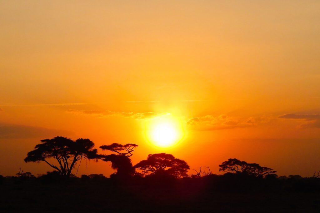 Amboseli Nationalpark - Sonnenuntergang