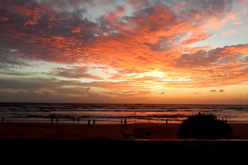 Süden Sri Lanka - Bentota Beach Sonnenuntergang