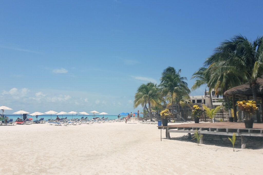 Strand auf der Isla Mujeres, Mexiko