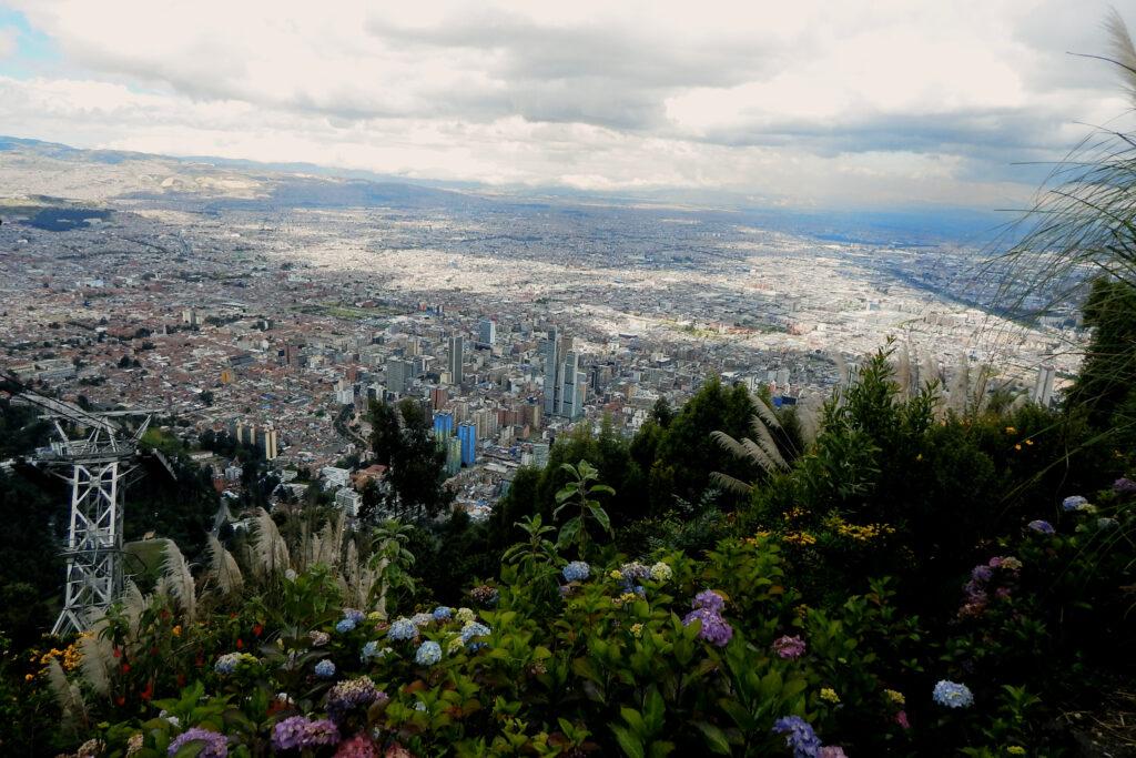 Blick vom Monserrate auf Bogotá