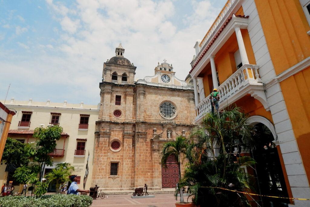 Pittoreskte Altstadt in Cartagena de Indias, Kolumbien