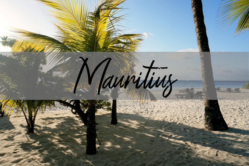 Mauritius - Palmen und Strand