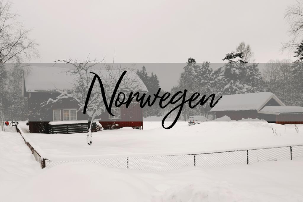 Norwegen Schneelandschaft