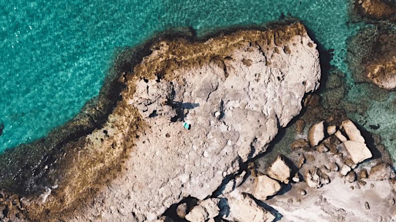 Insel Milos von oben