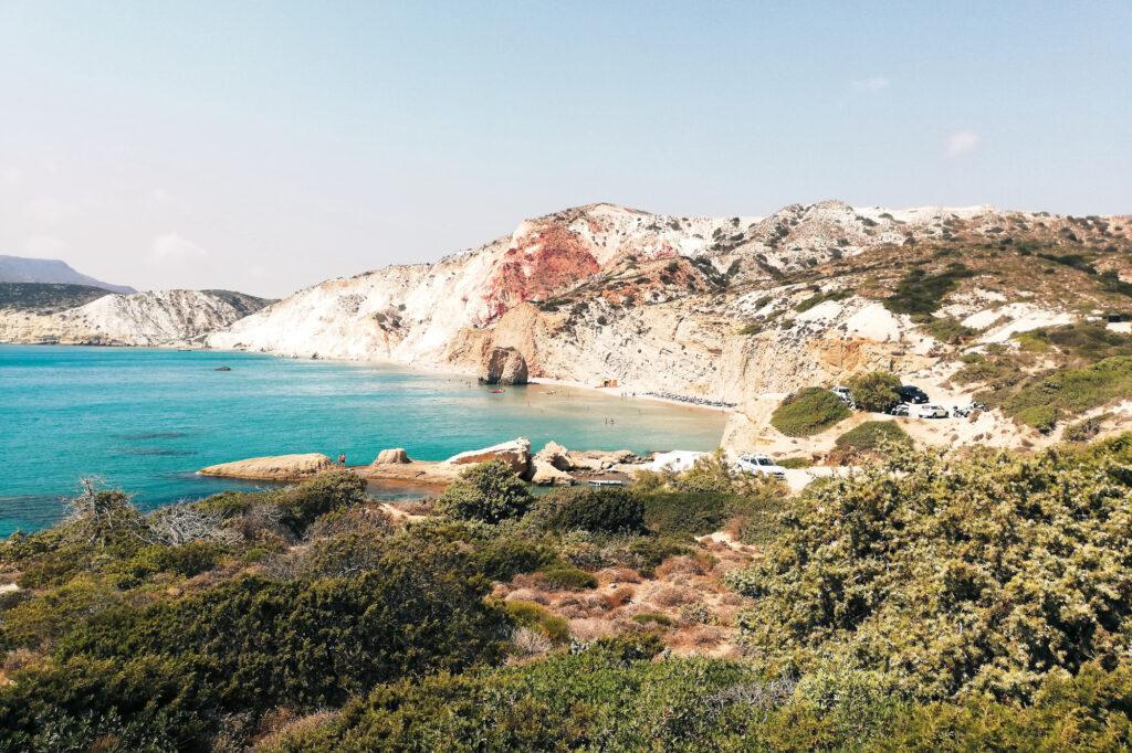 Fyriplaka Beach auf der Insel Milos