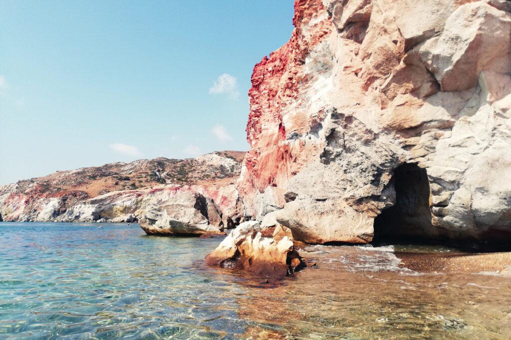 Paliochori Beach auf Insel Milos