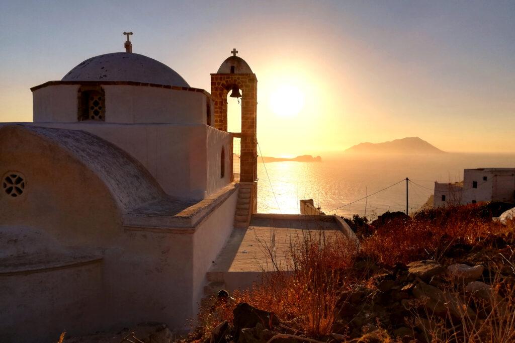 Sonnenuntergang in Plaka, Milos
