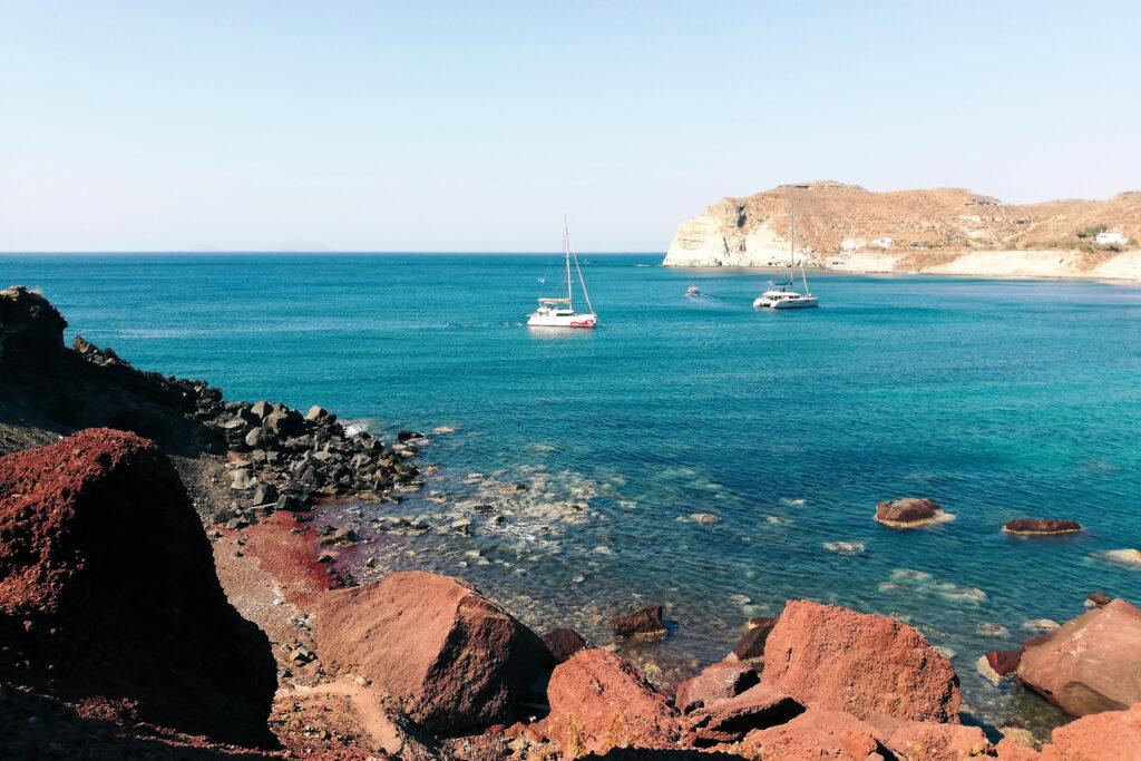 Red Beach auf Insel Santorini