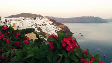Ausblick von der Insel Santorini - Thumbnail