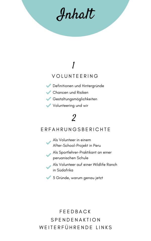 Volunteering Guide - Basic Inhalt